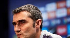 Valverde lamentó la ausencia de Leo Messi. EFE