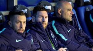 Messi est aussi le roi du banc. EFE