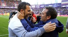 El Valladolid se salvó, cosa que no pudo hacer el Girona. EFE