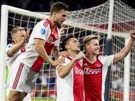 Tadic situó a Van de Beek por delante de De Jong y De Ligt. EFE