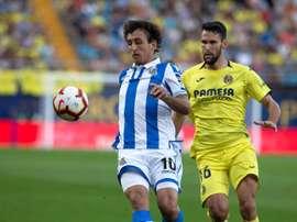Mikel Oyarzabal restera à la Real Sociedad si City parvient à retenir Sané. EFE
