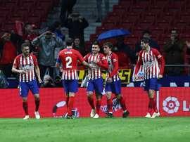 Bon anniversaire à l'Atlético. EFE