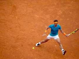 El tenista español Rafael Nadal durante el partido de tercera ronda del Open Barcelona Banc Sabadell que ha disputado hoy contra el también español David Ferrer. EFE