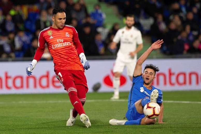 Keylor pasará el reconocimiento del PSG en Madrid. EFE