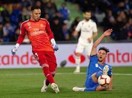 Keeper Keylor Navas was crucial last time out against Getafe. EFE