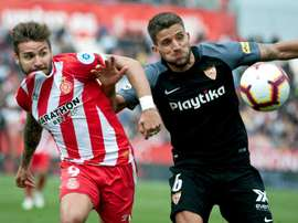 Portu apologised to fans for not being able to keep Girona in La Liga. EFE