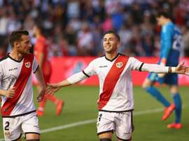 Adrian Embarba kept Rayo Vallecano's survival hopes alive. EFE