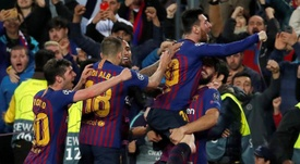 El Barça busca gol. EFE