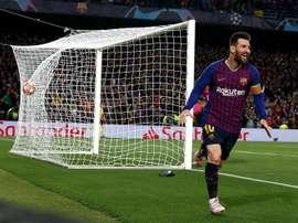 Messi, l'un des quatre candidats pour Maldini. EFE
