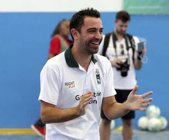 Xavi est le nouvel entraîneur d'Al Sadd. EFE/Archivo