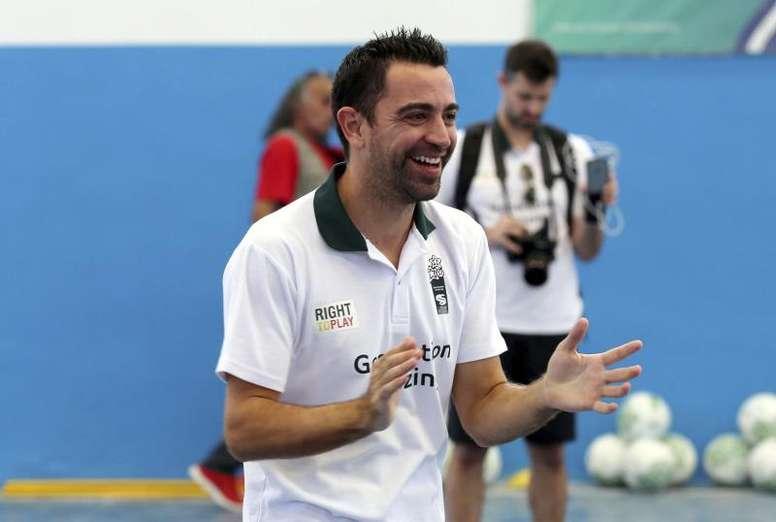 Xavi va débuter sa carrière d'entraîneur. EFE/Archive