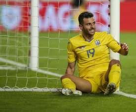 La UEFA rechazó el recurso por alineación indebida de Ucrania. EFE