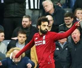 Message de Salah aux supporters de Liverpool. EFE/EPA