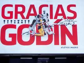 Godín dá adeus ao Atlético de Madrid. EFE