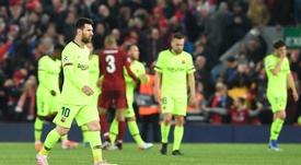 Quand Matip se retrouvait en test antidopage avec Messi après le 4-0. EFE