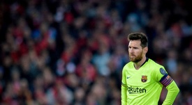 Messi estará na conferência de imprensa quatro anos depois. EFE