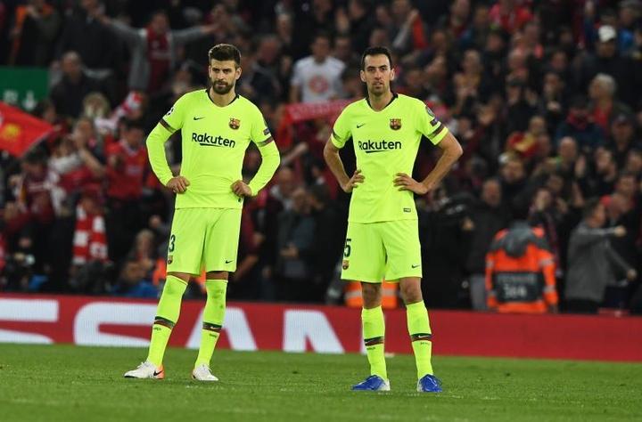 El Barça espera que Piqué, Busquets y Jordi Alba accedan a rebajarse el sueldo. EFE