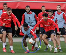 Le groupe de Séville pour affronter l'Athletic. EFE