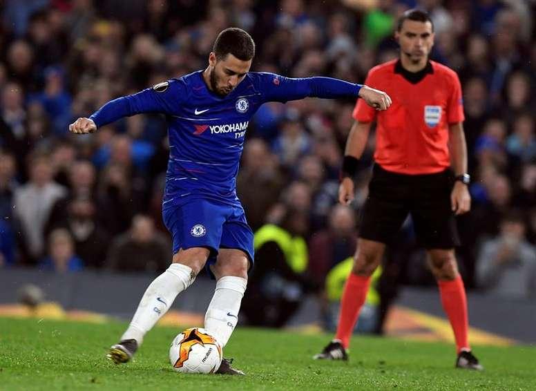 Hazard quer vencer a final da Europa League. EFE