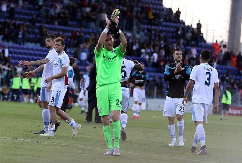 La Lazio venció 1-2 al Cagliari en Cerdeña. EFE/EPA