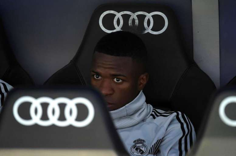 Vinicius spoke about what Real Madrid means to him. EFE