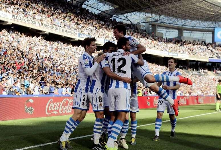 La Real Sociedad puede jugar la Europa League la temporada que viene. EFE