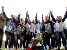Anoeta homenajeó a las campeonas de la Copa de la Reina. EFE