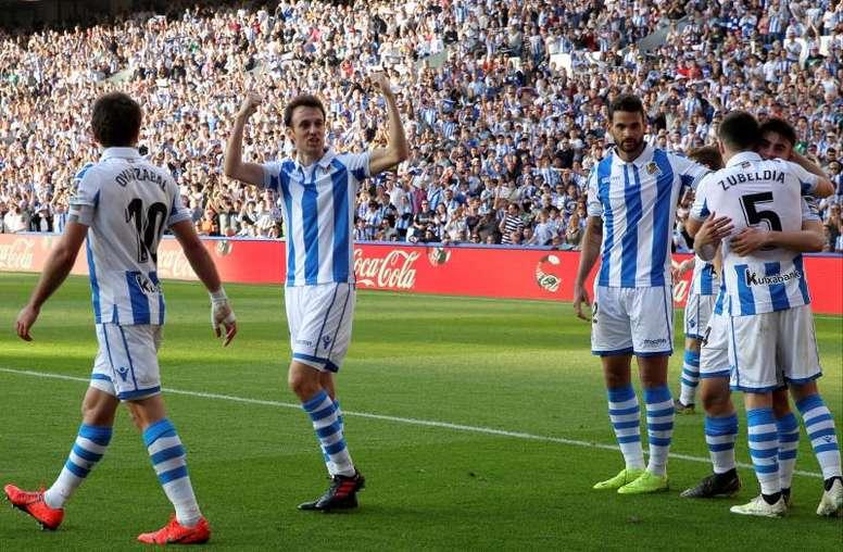Barrenetxea es el goleador más joven en la historia de la Real Sociedad. EFE
