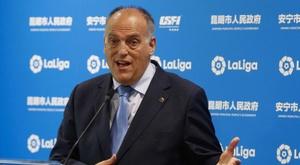 Tebas critique la nouvelle Ligue des champions. EFE