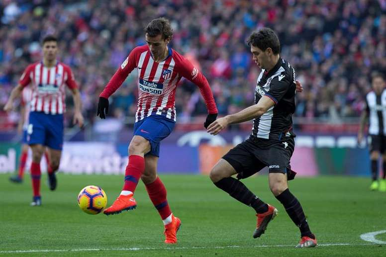 Antoine Griezmann will be leaving Atletico at the end of the season. EFE