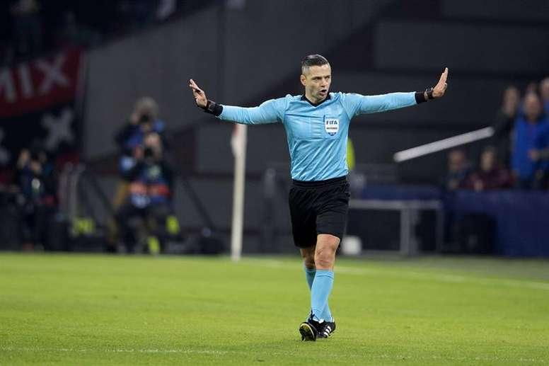 Skomina sera au sifflet de la finale de Ligue des Champions. EFE/Archive