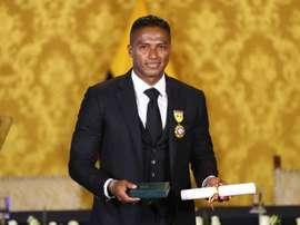 Antonio Valencia, homenajeado. EFE