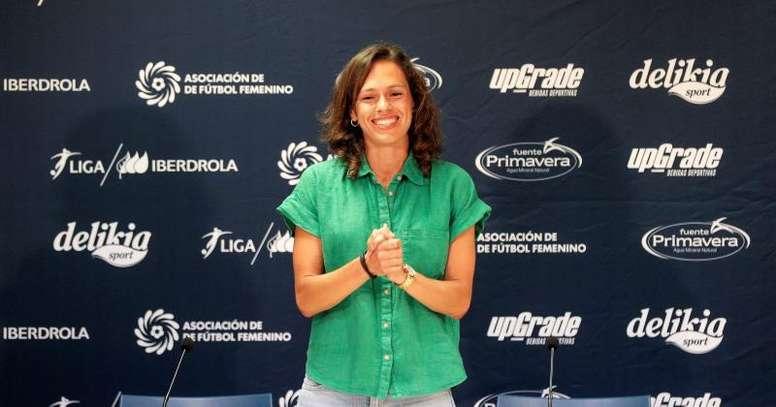 Sonia Prim habló de sus inicios en el fútbol. EFE