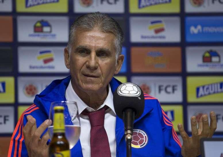 Carlos Queiroz espera poder contar con el mejor James. EFE/Archivo