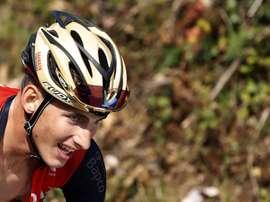 En la imagen, el ciclista español Iván García del equipo Bahrein-Mérida. EFE/Archivo