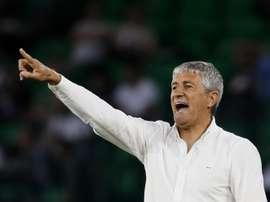 Le Betis négocie pour un retour de Quique Setién. EFE