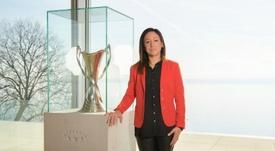 Nadine Kessler habló sobre el cambio en la Champions. EFE/UEFA