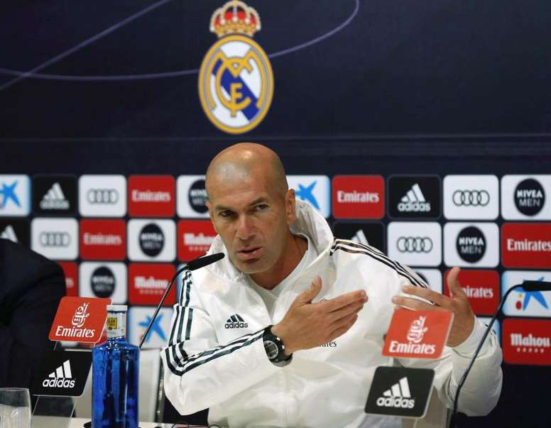 Zidane gave his final press conference of the season. EFE