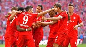 El Bayern se impuso al Eintracht de Frankfurt para coronarse campeón. EFE