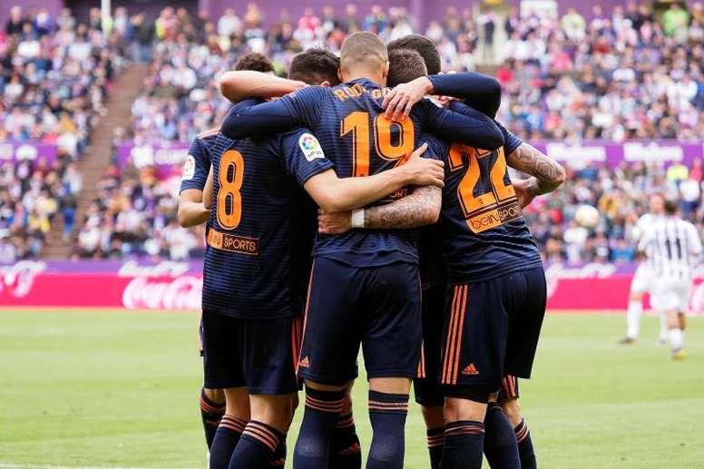 El Valencia cerró la Liga como segundo mejor equipo visitante. EFE