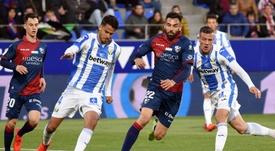 El Huesca remontó al Leganés con Mantovani como gran protagonista. EFE