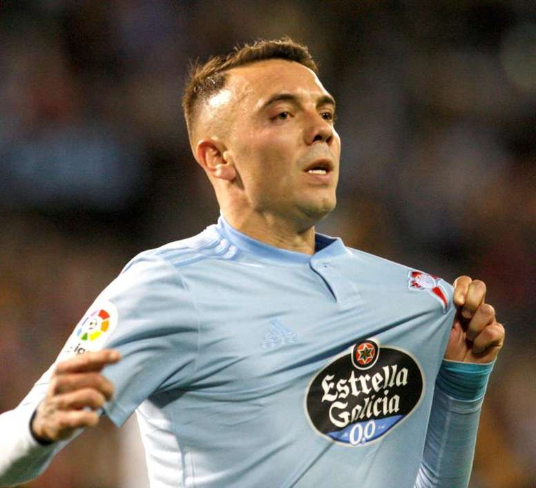 Iago Aspas is stuck on 98 La Liga goals. EFE