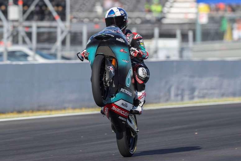 El británico Jhon Mcphee, (Petronas Sprinta Racing), en un entrenamiento del Gran Premio Red Bull de España. EFE/Archivo