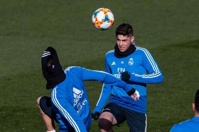 Fede Valverde, ausente en el entrenamiento. EFE