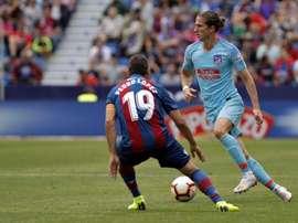 Filipe Luis pourrait encore jouer à l'Atlético. EFE