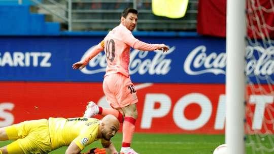 Messi costuma ser decisivo em Ipurua. EFE