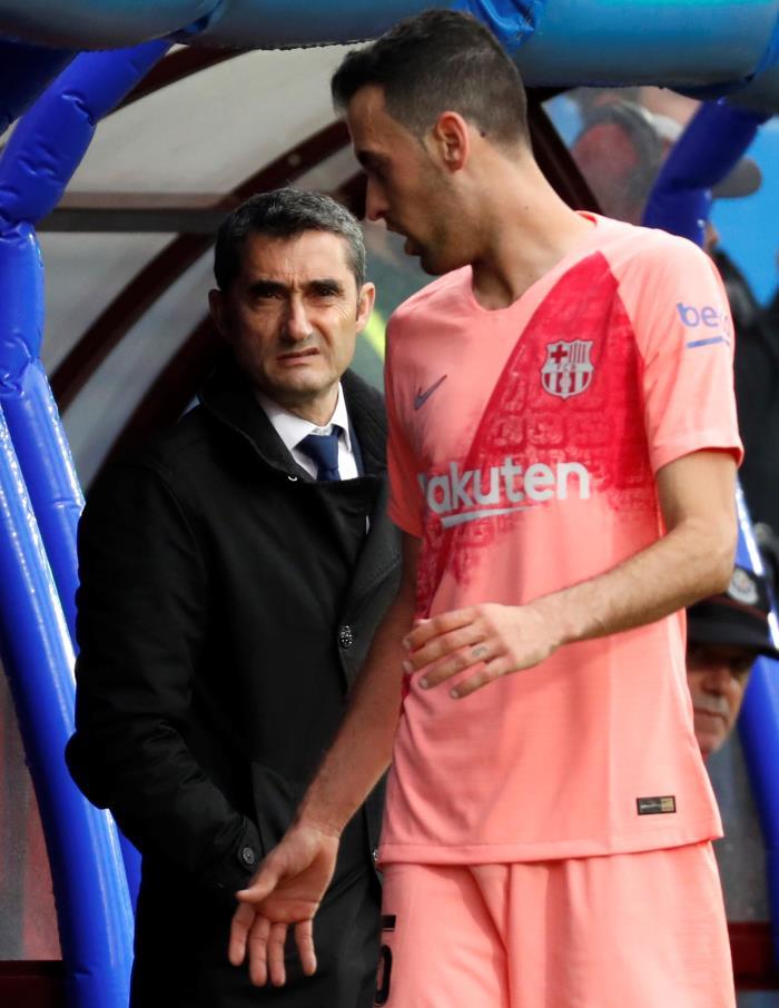 Valverde hopes his injured players return. EFE