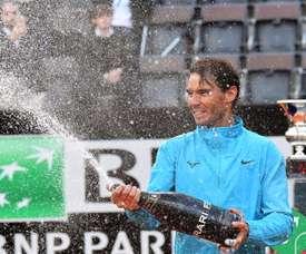 El tenista Rafael Nadal tras ganar este domingo el Torneo de Roma ante el serbio Novak Djokovic. EFE/Archivo