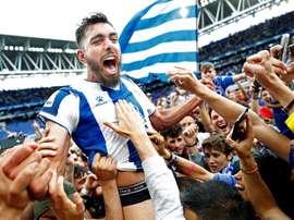 Borja Iglesias se siente cómodo en el Espanyol. EFE