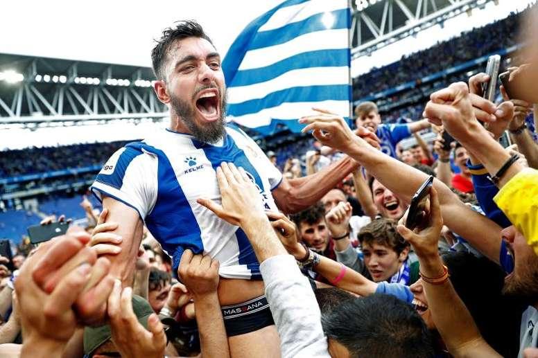 Borja Iglesias a fait ses adieux. EFE